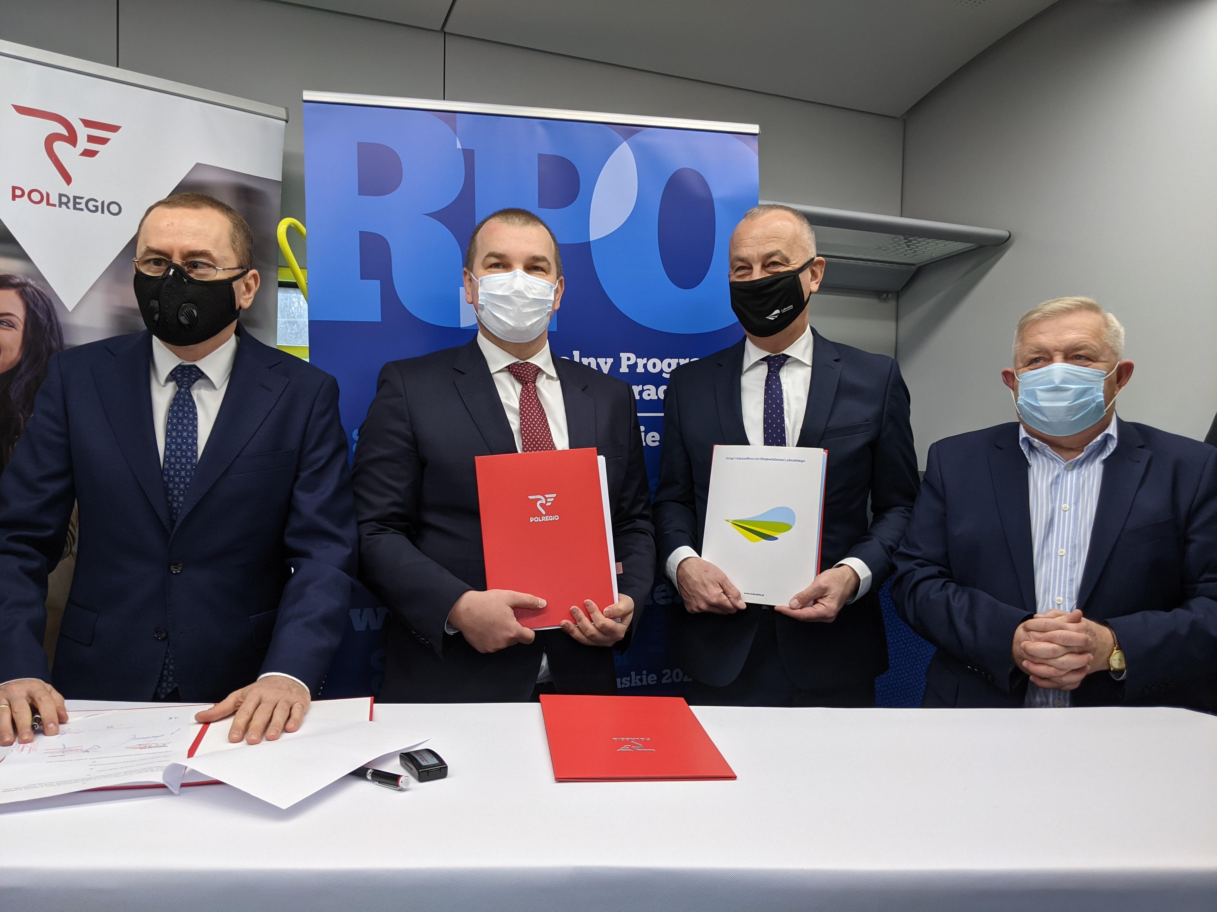 Podpisanie umowy POLREGIO - Wojewdztwo Lubuskie